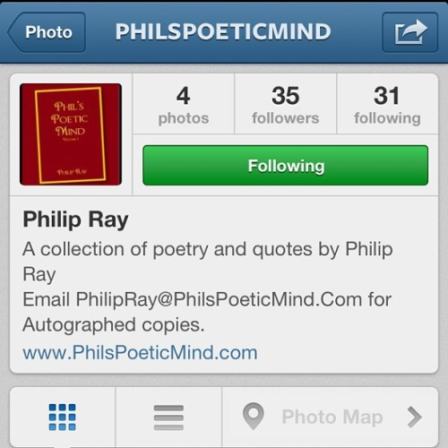 @philspoeticmind  hit the follow button !