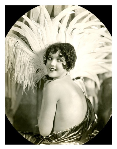 Sally Phipps and her awesome feathers - c. 1920s