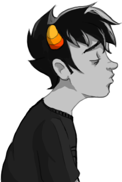 bagelartnstuff:  Here, have a transparent Karkat to kiss things.