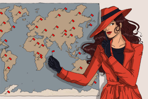 hipstermusings:  I wrote about the evil stylings of Carmen SanDiego for WORN Fashion Journal, which is cool and all but WOULD YOU LOOK AT THAT ILLUSTRATION?!