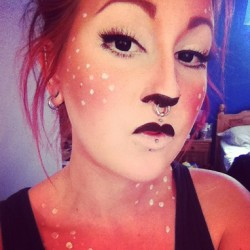 So.. I became a fawn.. #fawn #makeup #sugarpill #tako #makeupgeek #countrygirl #stealth #kryolan #lashes #mua #makeupartist #fawnmakeup