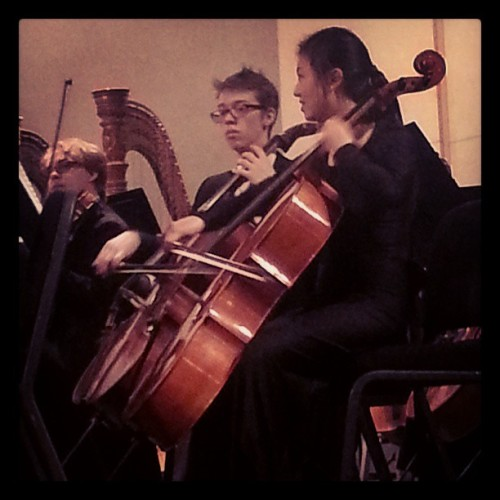 The boys last concert for Tacoma Youth Symphony #finally #graduate #instamood  #Symphony #concert #cello #Beethoven #classical