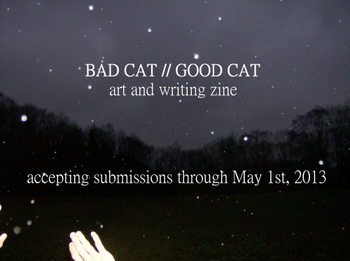 badcatgoodcat:  new flyer//same info editor's note: submissions do not have to be cat related  This time, I will submit some work!