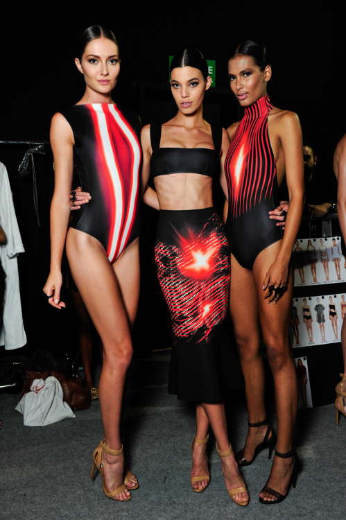 Lenny Neimeyer set swimwear ablaze with captured light and super sleek styling, seen backstage during @fashionrio spring/summer 2014