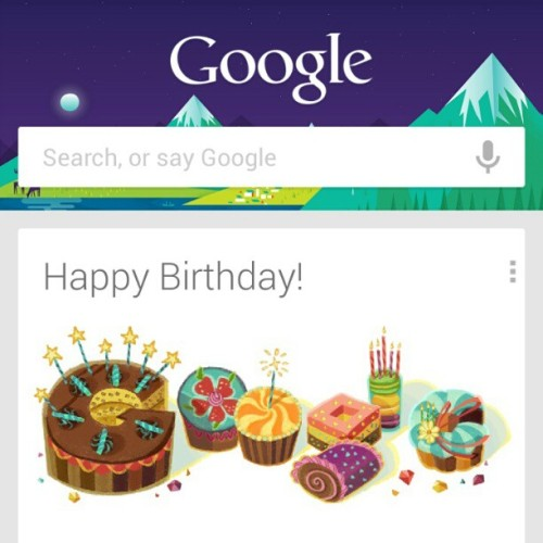 Oh Google, you remembered. (at Google.com)