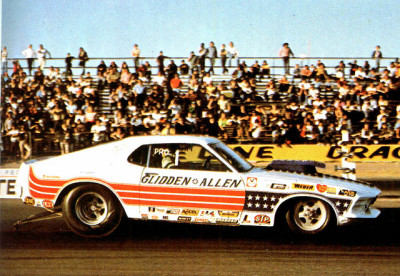 musclecardreaming:  Bob Glidden and Bob Allen's Ford Mustang