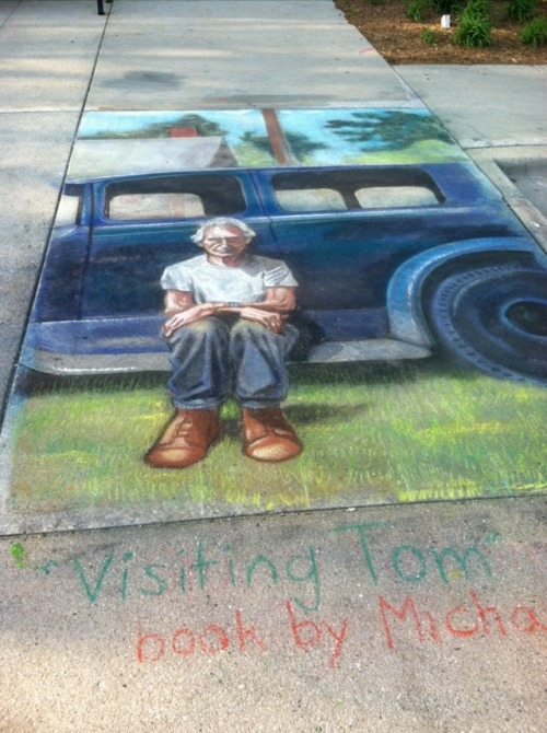 Book cover rendered in chalk in honor of Mike Perry and Tom! (via Tom Chalk - SneezingCow.com)