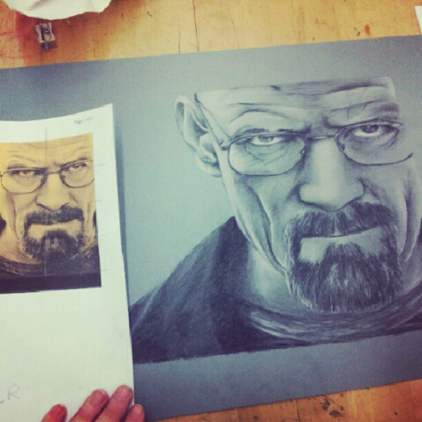 Dun wid it #breakingbad #heisenberg #walterwhite #art #charcoal #drawing