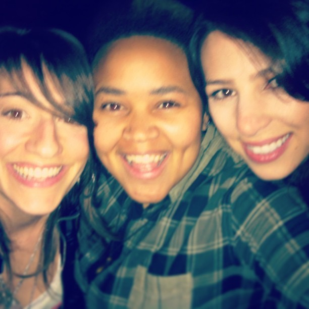 Clubbin with @arielleishamming and @sassibob in LA!! .^_^.