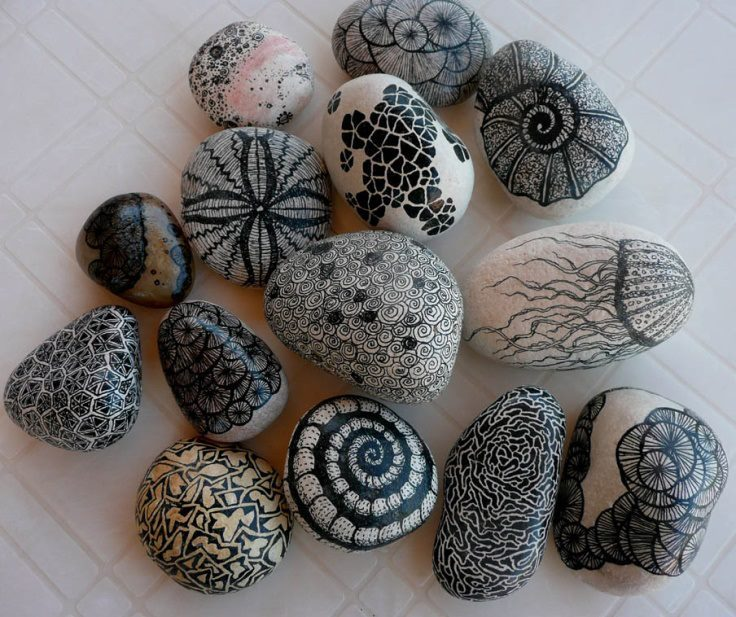 cartoon-motion-life:  Sharpie & some stones.