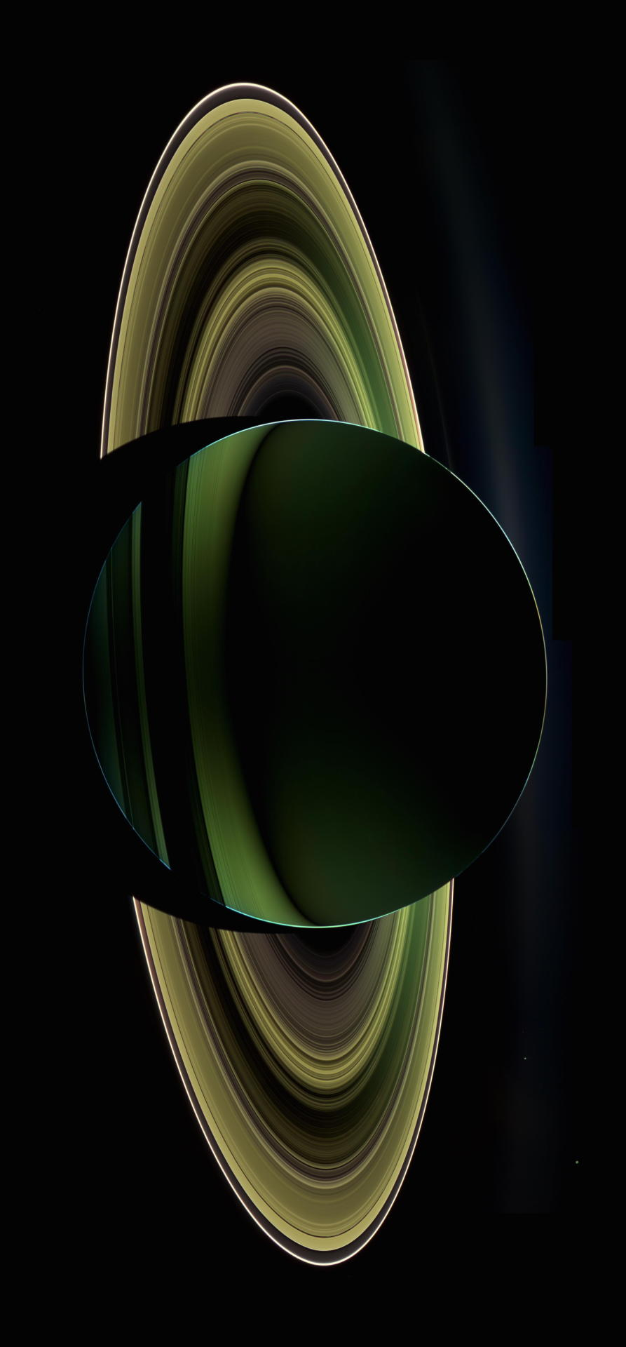 astronomicalwonders: Backlit Saturn - Seen from...