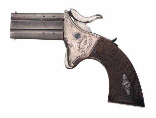 Two shot swivel derringer made by Webley in the 1860's Sold At Auction: $1,000