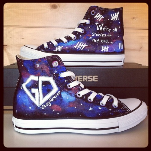 customconverseuk:  McFly Galaxy Defenders stay forever and Doctor Who custom converse @tbagmcfly #customconverse #mcfly #doctorwho #chucks #kicks #allstars #converse #galaxy