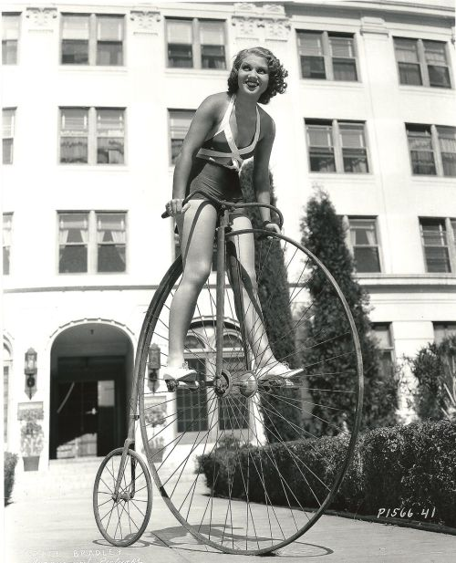 Grace Bradley rides a bike. Highly. Happy New Year from Rides a Bike!
