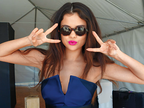 Selena behind the scenes at the InStyle photoshoot