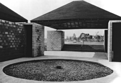 "onsomething:  onsomething        Louis Kahn + Anne Tyng | Trenton bath house, 1955  ""The world discovered me  after I designed the Richards Medical Building,  but I discovered myself  after designing that little concrete block bath house in Trenton."" Via 1, 2"