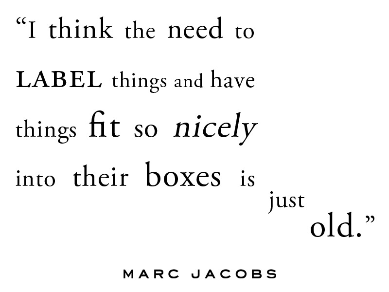 marcjacobs:  Labels, boxes