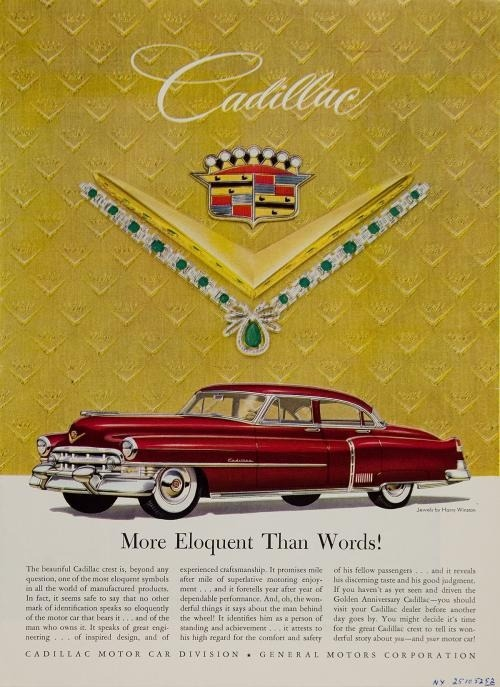theniftyfifties:  A 1952 Cadillac advertisement.
