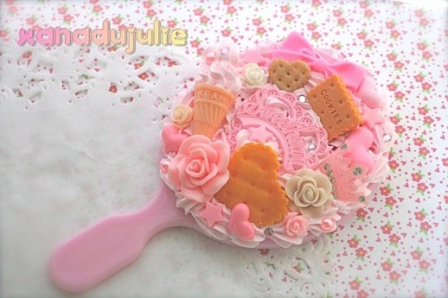 xanadujulie:  Kawaii Princess Handheld Mirror available now in my etsy for $20http://etsy.me/15R04rb