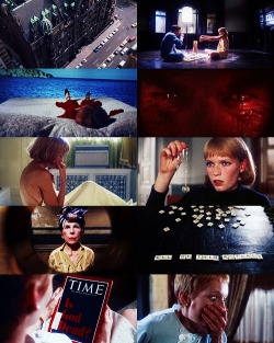 "vintagegal:  Rosemary's Baby (1968) ""What have you done to him? What have you done to his eyes, you maniacs!"" ""He has his father's eyes."""
