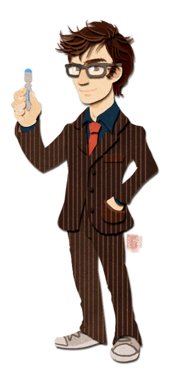 kichisu:  The 10th Doctor <3 I kinda wanted to try out this style again