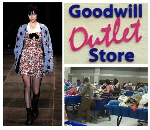 Goodwill employees doubled as stylists this year, commissioned by Hedi Slimane to find the best outfits for his fall show.