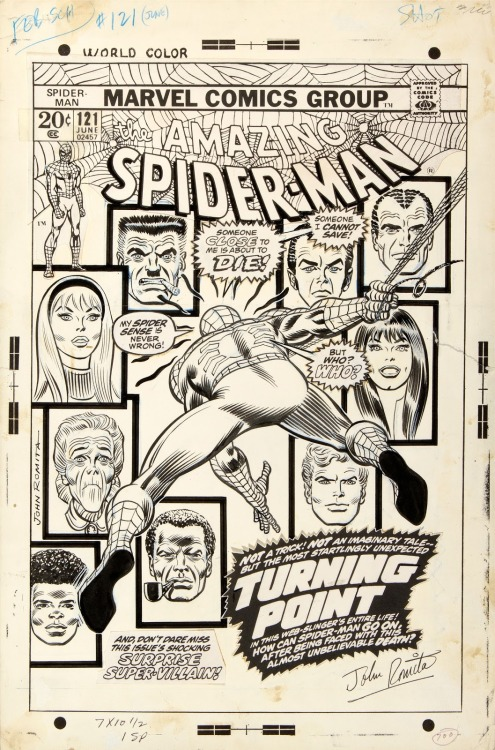 seanhowe:  Cover to Amazing Spider-Man #121 by John Romita.  This is very important.