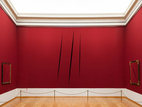 Amazing ideas and work by Lucio Fontana.