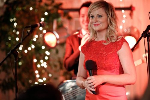 "HOW AMY POEHLER SAVED LESLIE KNOPE It's no secret that ""Parks & Rec"" had some growing pains, even the stars and co-creators have acknowledged it. Co-creator Greg Daniels credits Amy Poehler with saving the character of Leslie Knope and turning it all around. ""We had originally written her character as kind of deluded, but [Amy's] very aware, very hip,"" Daniels told The New York Post. ""By Season 2, the character had a lot more of her personality in it. I think about the episode where she was trying to get publicity for the zoo with a penguin wedding, but then the penguins were both gay, and she got into trouble with the community and she went to the clubs to get the support of the gay community. And you saw that this isn't Amy doing Hillary Clinton. It's what Amy Poehler would be like in small-town government."""