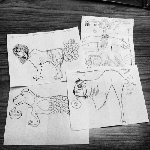 Drawing games with me sis grace!  Which ones your favorite? #creepy #draw #sketch #bored
