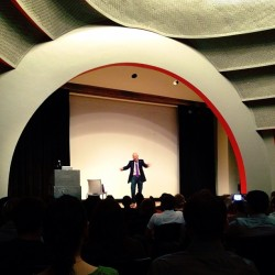 Seth Godin at @creativemorning. Firehose of wisdom.