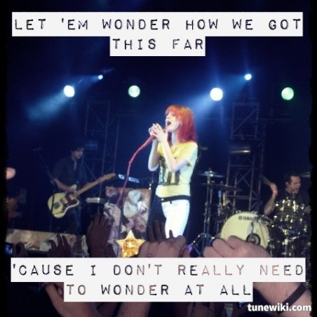Still Into You by Paramore via TuneWiki