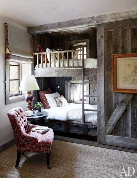 georgianadesign:  Decorator Markham Roberts in Montana. Architectural Digest.
