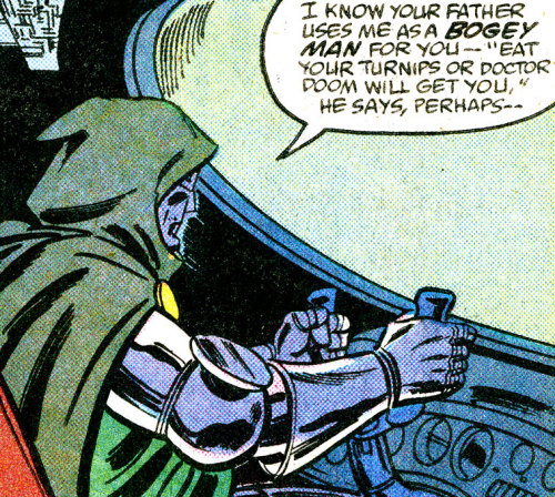 rraaaarrl:  Eat your turnips or Doctor Doom will get you!