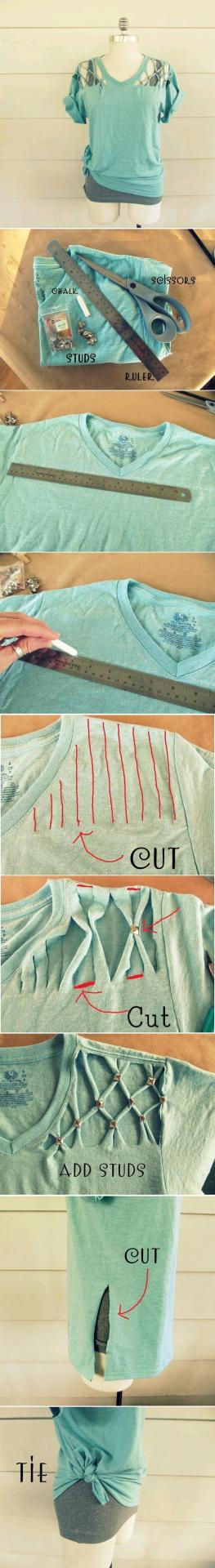 oasm:  DIY Cool Studded T-Shirt DIY Projects