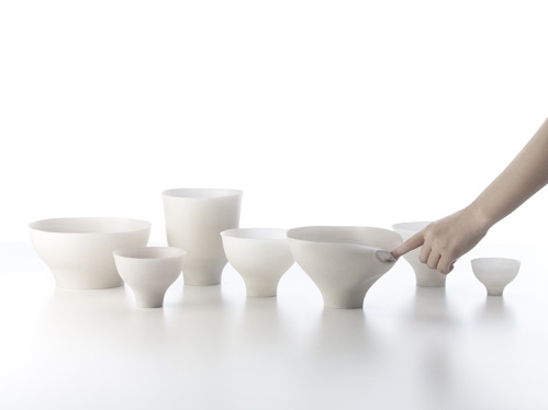 Shivering-Bowls by Nendo. Japan 2012.
