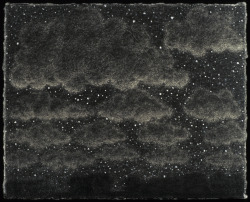 "scottespeseth:  Clouded Night Graphite and Gouache 3"" x 4"" 2004 Scott Espeseth"