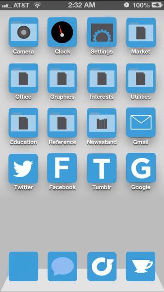 like all i want in life is a flat iOS design