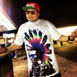 Photo 3: New shirt! Love it! Lol #chief #shades #colors #tyedye #indian #dope #redwings #detroit #sunglasses #chiefer #feathers #tshirt