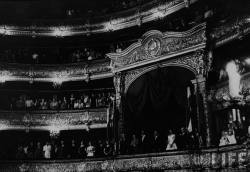 pariscaracasbeyrouth:  Nikolai Bulganin attending the Bolshoi Theater with King Mohamed Reza Shah of Iran and his wife Queen Soraya, Kliment Voroshilov, Premier Nikita S. Khrushchev. June 1956, Moscow, Russia