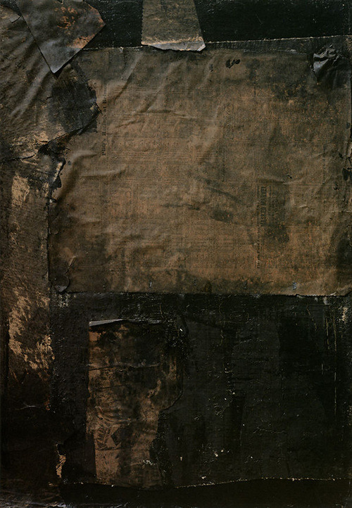 box-noema:  Robert Rauschenberg, Black Paintings.