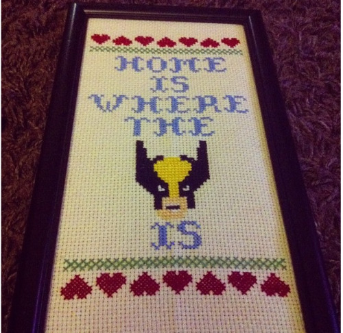 My very first cross stitch project - for Nicks house!