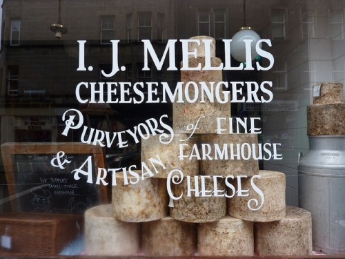 windowlettering:  How fabulous is this window lettering for I.J. Mellis Cheesemongers in Edinburgh? by Beth M527  :)