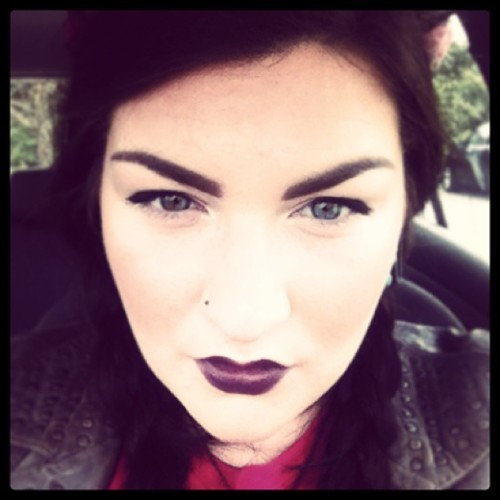 All about the pout today! #lips#mac#purple#cyber