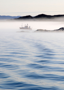 ethereo:  Misty summer morning near Ilulissat / Greenland (by anjči)