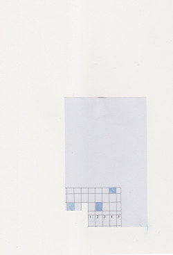diagramism:  one to five watercolour on pre-printed paper by diagramism