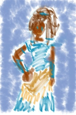 Korra doodle while I'm waiting for my hibachi steak… 🏄
