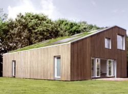 World Flex Home, Danish 'green' flex house built from shipping containers. Image: Lindhe/WFH.