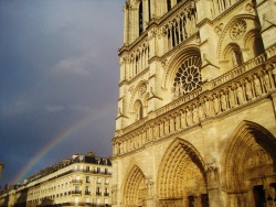 Rainbows near Notre-Dame. From my Spring Break to France and Belgium.
