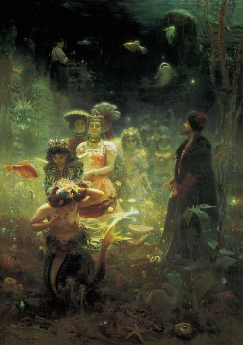 queerlyhypersensitive:  Ilya Yefimovich Repin - Sadko in the Underwater Kingdom, 1876